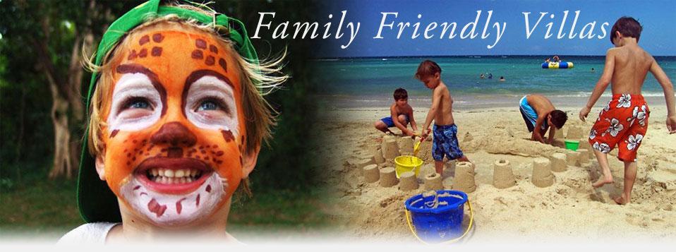 family friendly villas kids